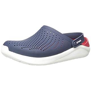 Crocs LiteRide Clog | Athletic Slip On Comfort Shoes, navy/pepper, 11 US Women / 9 US Men