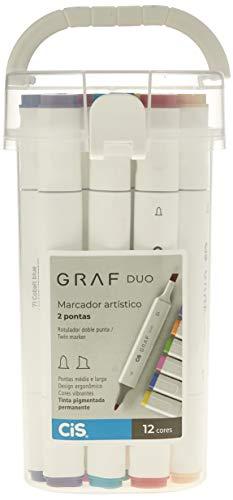 Marcador Artístico 2 Pontas, CiS, Graf Duo, 59.7800, 12 Cores