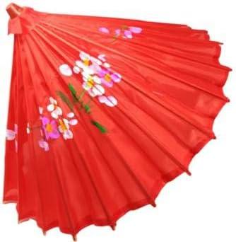 R&F SRLS Paraguas Chino Rojo sombrilla Fiesta de Equipamiento Tela Madera: Amazon.es: Productos para mascotas