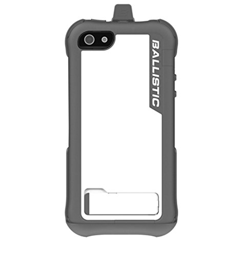 (Ballistic EV0993-M185 Every1 Case with Holster for iPhone 5 - 1 Pack - Retail Packaging - Gray/White )