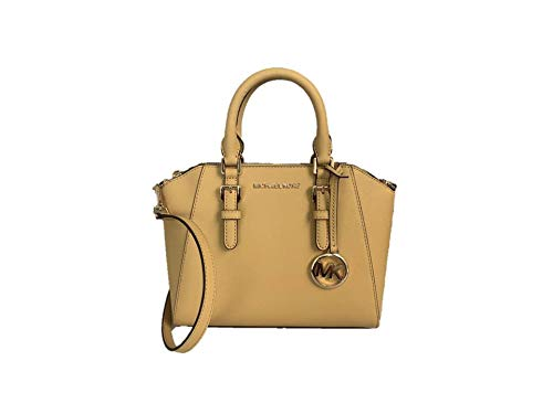 Michael Kors Ciara Medium Saffiano Leather Messenger - Dusty Daisy