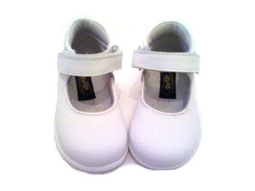 c2de8397d8f4e3 Scarpe bambina primi passi ballerine Mary Jane n 23 bianche apertura a strappo  artigianali vendita online