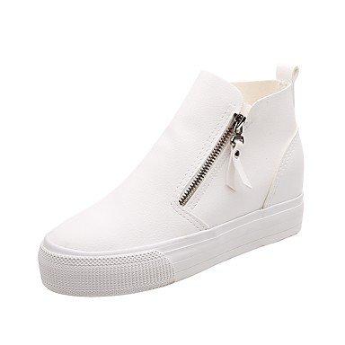 Negro Blanco Traje Mujer Parte La De De 3 UK5 4 Pu 2A Talón EU38 5 CN38 Caminando Tacones Noche US7 Zapatos Fall 2 5 Formales amp;Amp; Comodidad Pulg Cuña awxdTvw6zq