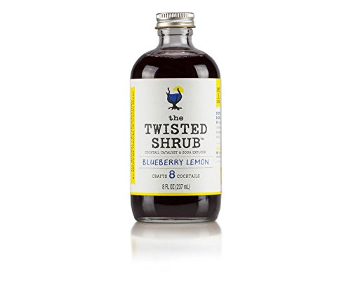 The Twisted Shrub - BLUEBERRY LEMON - Apple Cider Vinegar drink mixers for healthier sodas & cocktails. Try all 6 flavors!