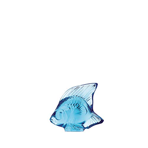 Lalique Fish Crystal - Lalique Light Blue Fish - 3000200