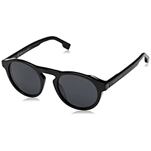 BOSS by Hugo Boss Men's Boss 0973/s Polarized Round Sunglasses, Blackgrey, 50 mm