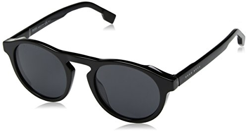 BOSS by Hugo Boss Men's Boss 0973/s Polarized Round Sunglasses, BLACKGREY, 50 ()