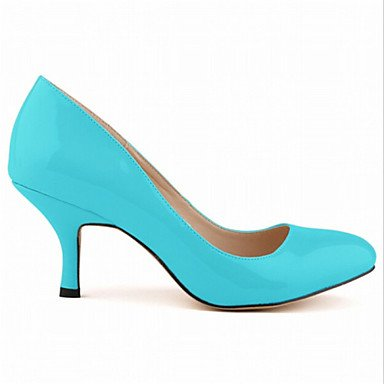 Women's High pink Stiletto Pumps Women Heels High Heels Faux Lace Toe Leather Cirior ZHWqFSRq