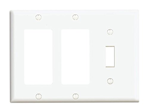 Leviton 003-80431-00W 1-Toggle 3-Gang 2 Decora GFCI Device Combination Wall ()
