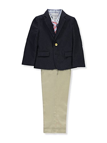 - Nautica Little Boys' Suit Set with Jacket, Pant, Shirt, and Tie, Dresswear Brass Navy, 7