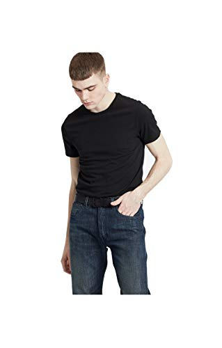 Levi's Slim 2pk Crewneck 1 Camiseta, Negro (Two-Pack tee Black + Black 0001), Small 2 para Hombre