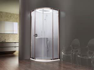 Cabina de ducha Design Eon Novellini 1/4 Círculo 90 x 90 cm grifo ...