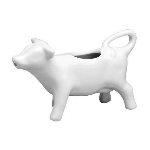 Hic Nt-1033 Mini Cow Creamer Porcelain, 2 Oz. (White Mini Creamer)
