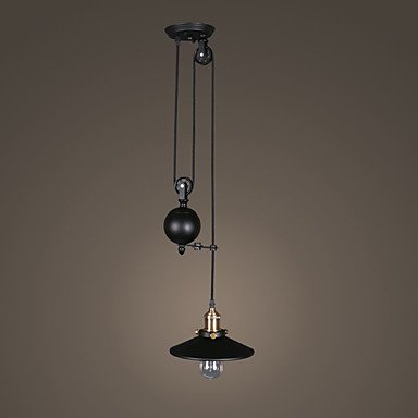 XUEXIN light Single Head Personality Industrial Pully Pendant Lamp for the Foyer / Entry / Dining Room Adjustable Chandelier Light , 110-120v Entry Chandelier Art