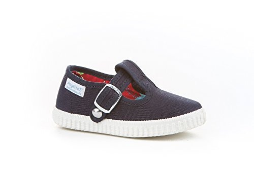 Zapatillas Pepito de Lona para Niños, Angelitos mod.122, Calzado infantil Made in Spain, Garantia de Calidad. Azul Marino