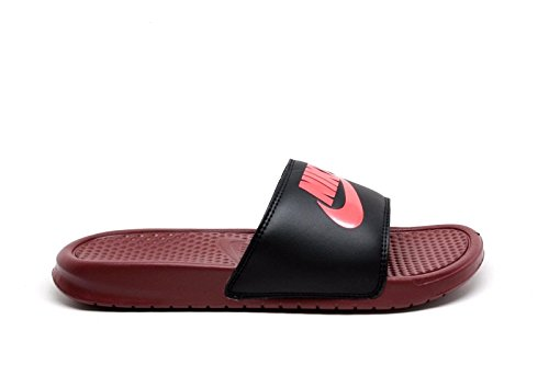 NIKE Mens Benassi Just Do It Athletic Sandal Dark Team Red/Solar Red/Black 06xjJ