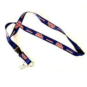 NCAA Mississippi Ole Miss Rebels Team Color Lanyard, 22-inches, ()