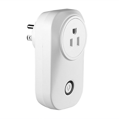 Smart Home WiFi Plug - Type-B USA Plug Works with Amazon Echo Alexa Supports Android & iOS, App Support, WiFi by LJQ