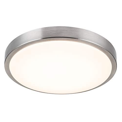 Nickel 3 Matt Light - Kingbrite 16 inch LED Ceiling Light Fixture, Matt White Acrylic, 3000K Warm White, ETL Listed, Dimmable, 25W 1750lm LED Flushmount Ceiling Lamp