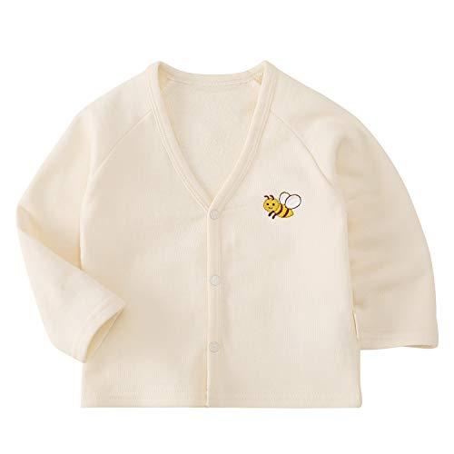 pureborn Baby Boys Girls ButtonDown Cardigan Toddler Cotton Sweater Clothes Spring 13t Kid Beige 1224M