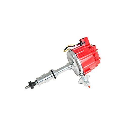 Top Street Performance JM6508R HEI Distributor with Red Cap (Vacuum Advance)