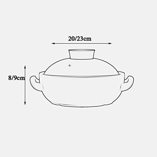 Casserole Casserole Accueil cuisinière à gaz gaz céramique dédié petit pot d'argile brûler sec Marmite viande (Size : 23 * 9cm)
