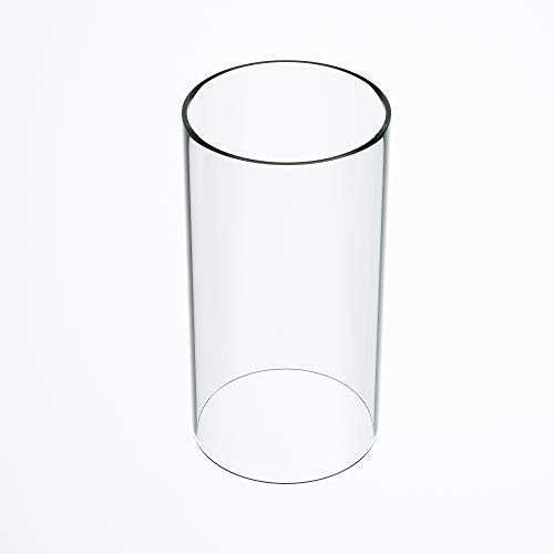 TLLAMP Large Size Hurricane Candle Holder Glass, Glass Cylinder Open Both Ends, Open Ended Hurricane, Glass Lamp Shade Replacement (5