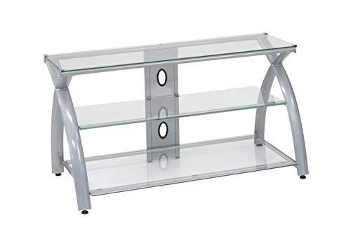Futura TV Stand - Silver /Clear
