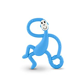 Matchstick Monkey Dancing Monkey Teether - Teething Toy (Light Blue)