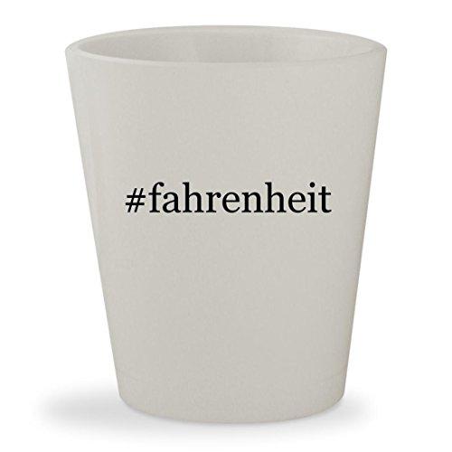 #fahrenheit - White Hashtag Ceramic 1.5oz Shot Glass