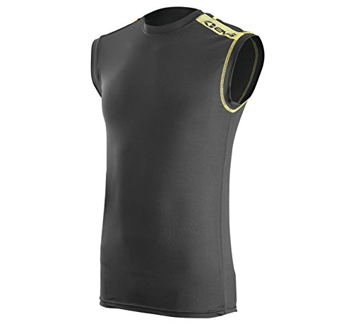 EVS Sports  unisex-child Tug Top No Sleeve (Black, Small), 1 Pack