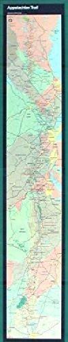 Appalachian Trail Narrow Wall Map (Maine to Georgia) ()