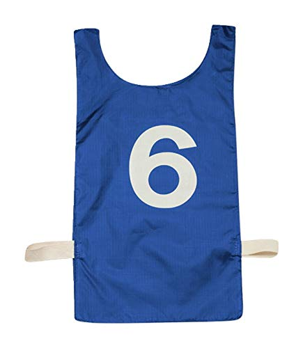 Sportime Numbered Pinnies - Full Size - Set of 12 - Blue ()