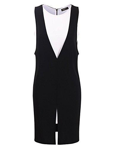 Mabssi Sleeveless Mid Dress,X-Large,CAWDSD04_Black