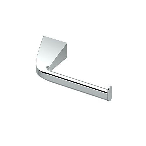 Gatco 5173 Quantra Bathroom Single Post Euro Style Toilet Paper Holder, Chrome - Collection Single Post Tissue Paper