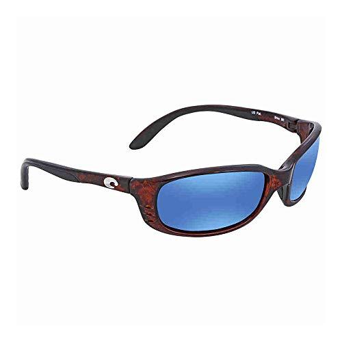 Costa Del Mar Brine Sunglasses, Tortoise, Blue Mirror 580Plastic Lens from Costa Del Mar