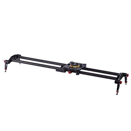 Selens 31' 80cm Carbon Fiber Dslr Camera Slider Rail Track Dolly Video Stabilization (Gold)