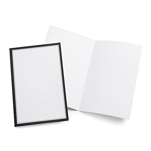 Gartner Studios Wedding Programs, Half Fold, 8 1/2' x 11', White With Black Border, Pack Of 50 (Black And White Wedding Programs compare prices)