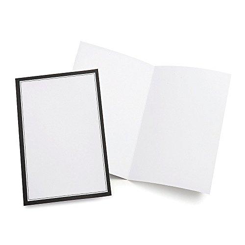Gartner Studios Wedding Programs, Half Fold, 8 1/2' x 11', White With Black Border, Pack Of 50 (Black And White Wedding Programs compare prices)