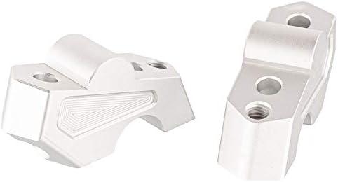 Argent R/éhausses de Pontets de Guidon de Moto Supports de D/éplacement en Aluminium du Guidon Accessoires pour F750GS 2018-2019