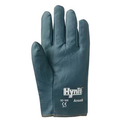 Ansell Size 8 Hynit Medium Duty Multi-Purpose Cut And Abrasion Resistant Blue Nitrile Impregnated Fabric Fully Coated Work Gloves With Interlock Knit Liner And Slip-On Cuff (Glove Work Impregnated)