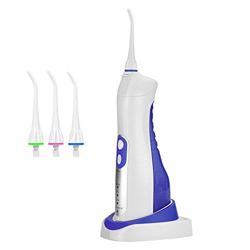 Price comparison product image Electric Portable Water Flosser Oral Irrigator, Toward IPX7 High Capacity Waterproof Wireless Rechargeable Power Dental Flosser with 4 Modes and 4 Replaced Spray Jets for Oral Care, FDA Approved