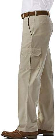 Haggar Men's Stretch Comfort Cargo Expandable-Waist Classic-Fit Pant
