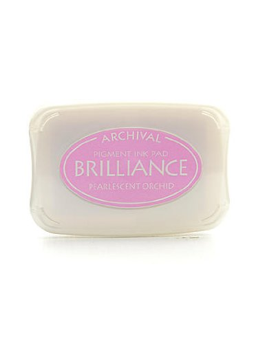 (Tsukineko Brilliance Archival Pigment Ink pearlescent orchid 3.75 in. x 2.625 in. pad [PACK OF 2 ])
