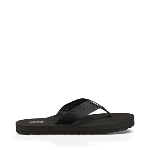 (Teva Women's Mush II Flip Flop,Fronds Black,9 M US)