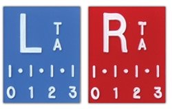 X-Ray Ruler Markers, Digital Style - 2-3 Initials, SET, L&R 3/4'', Vertical