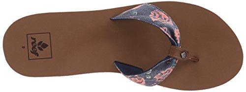 6 Women's Black Flop Scrunch Tx Diamond Reef UK Rose Navy Flip T0Rwxq
