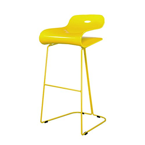 European iron high chair, ABS plastic, smooth lines, sitting comfort ( Color : Yellow ) by Xin-stool