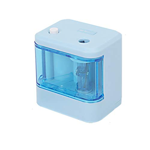 (RJ Home Electric Pencil Sharpener Pupil Pencil Sharpener Electric Pencil Sharpener Multifunction (Color : Blue))