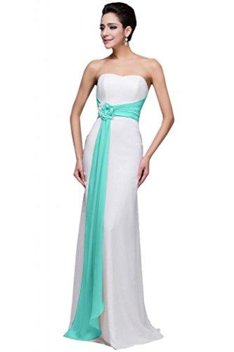 sunvary gasa larga modesto Mujeres Dama de honor vestidos de noche fiesta Hunter Verde